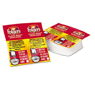 Folgers Coffee Premeasured Packs, Classic Roast Regular, 1.05 oz Vacket, 42 Vackets