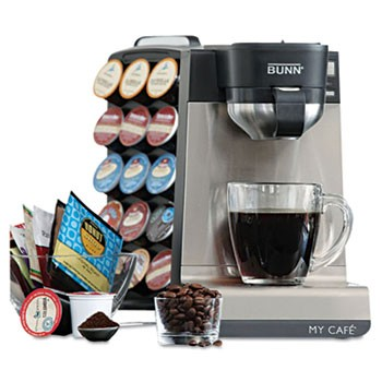 Bunn My Cafe Single Serve Multi-Use Brewer, Black/Stainless Steel