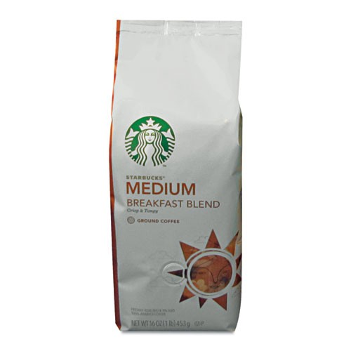 Starbucks Coffee, Breakfast Blend, Ground, 1 lb. Bag
