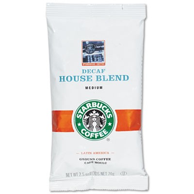 Starbucks Coffee, Decaffeinated Regular House Blend, 2.5 oz Per Packet, 18 Packets