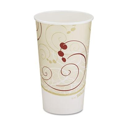 Solo Hot Cups, Symphony Design, 16 oz., Beige, 1000 Cups/Carton
