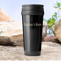 Personalized On-the-go Travel Tumbler Black