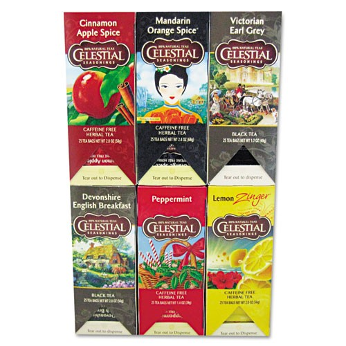 Celestial Seasonings Tea - Six Assorted Flavors