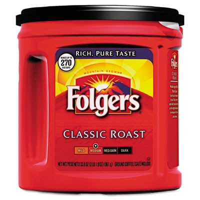 Folgers Coffee, Classic Roast Regular, Ground
