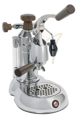 La Pavoni Stradavari Espresso Machine, Wood and Chrome