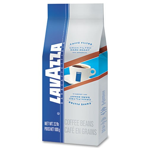 Lavazza Gran Filtro Dark Italian Roast Coffee, Whole Beans