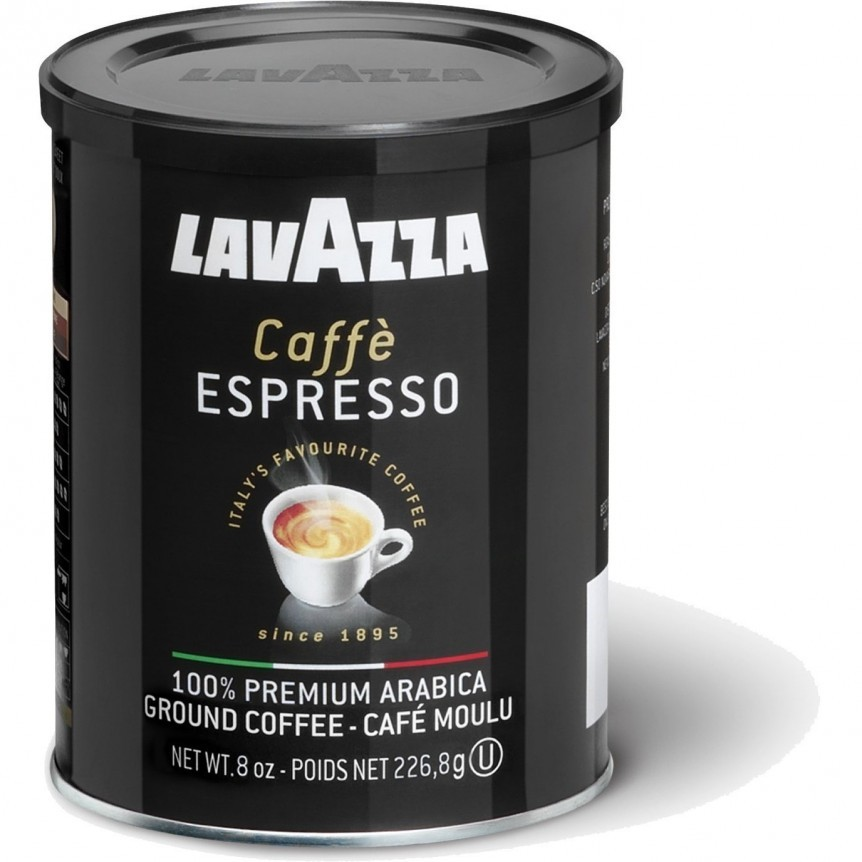 Lavazza Caffe Espresso Ground Coffee, 8-Ounce Cans, 4 Cans