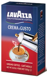 Lavazza Crema e Gusto Ground Coffee, Italian , 8.8-Ounce Bricks (Pack of 4)