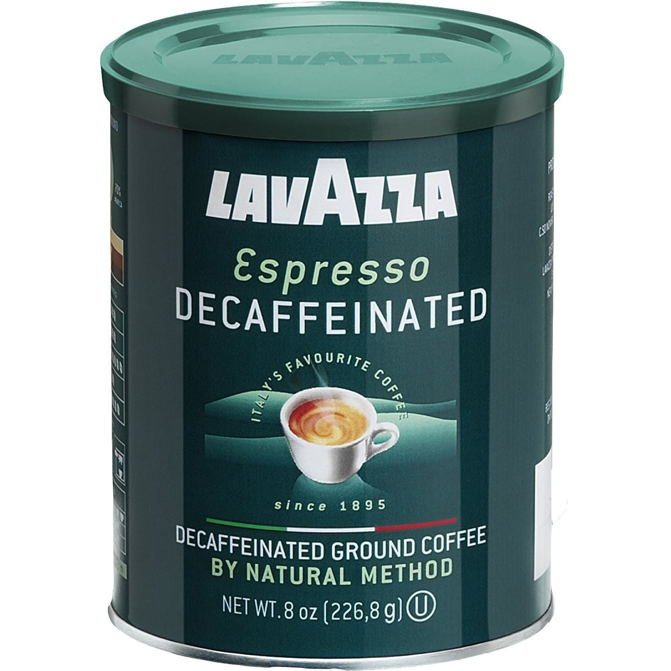 Lavazza Espresso Decaffeinato 4 8 Oz Cans, Ground