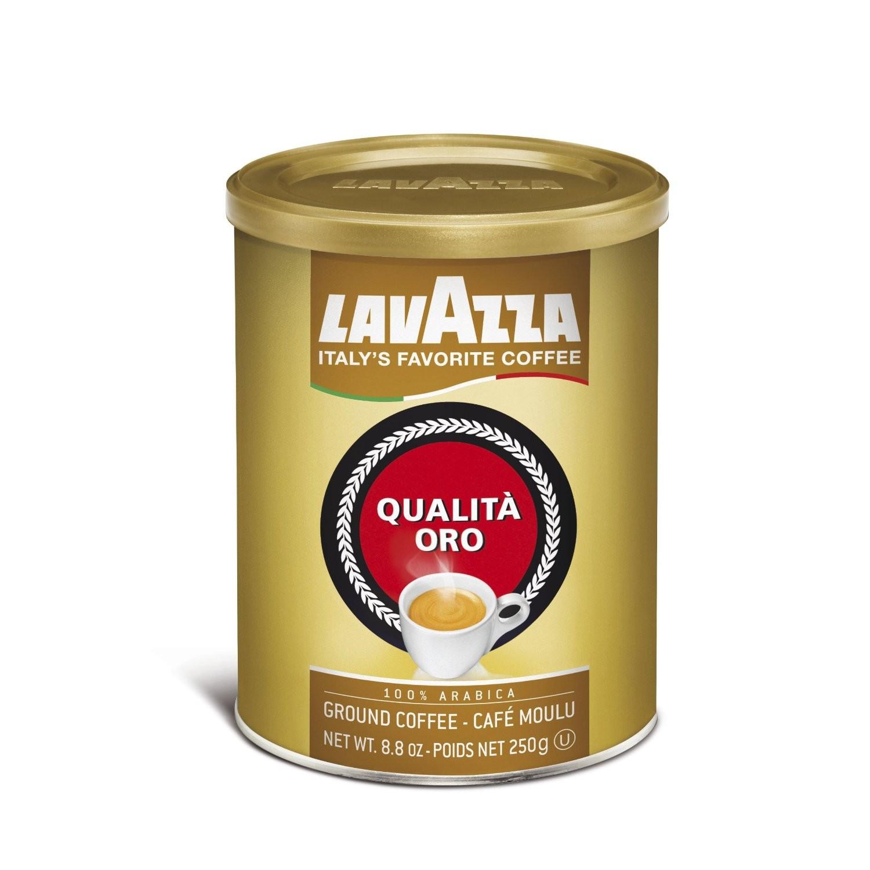 Lavazza Qualita Oro Ground Espresso, 12 8.8 Oz Cans, Ground