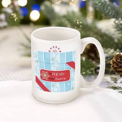 Personalized Holiday Present Box Mug