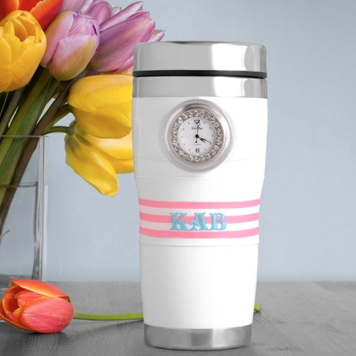 Personalized Tick Tock Clock Tumbler