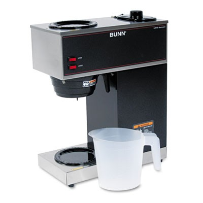 Pour-O-Matic Two-Burner Brewer, Black