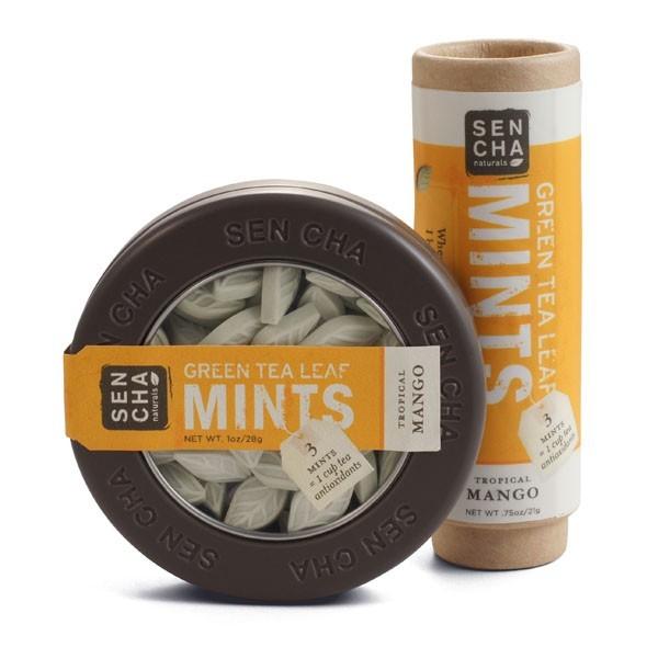 Sencha Naturals - Tropical Mango Green Tea Mints - Tube, Canister