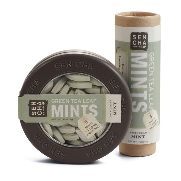Sencha Naturals - Moroccan Mint Green Tea Mints - Canister, Tube