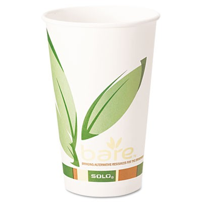 Solo Bare PCF Hot Paper Cups 16 oz