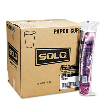 Solo Bistro Design Hot Drink Paper Cups