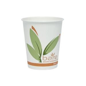 Solo Bare PCF Paper Hot Cups, 8 oz