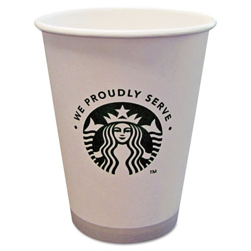 Starbucks Hot Cups, White with Green Logo