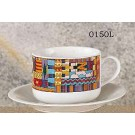 Aztec Design Latte Cups & Saucers